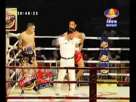 Khmer Boxing, Vong NoyCambodia and Raphael BohicFrance, Bayon TV 26 07 2013 Round1