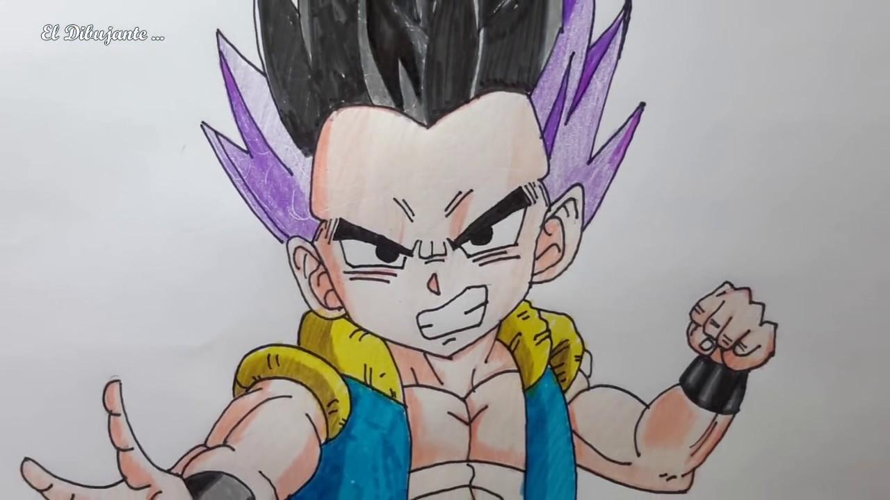 Como dibujar a gotenks paso a paso el dibujante youtube - Comment dessiner dbz ...