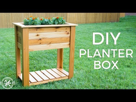 DIY Raised Planter Box with Hidden Drainage | How to Build