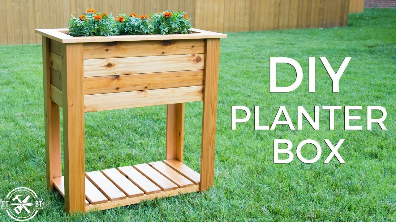 Outdoor Planters Near Me Diy Raised Planter Box With Hidden Drainage How To Build