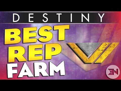 Destiny Reputation Farming 2016 - The FASTEST Way To Rank Up Vanguard / Faction Reputation SOLO.