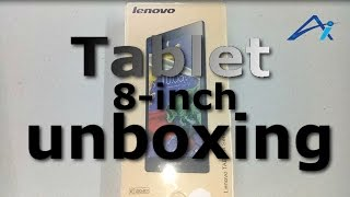 Hindi | हिंदी Lenovo A8-50 Tablet 8-inch unboxing Hand on | Ali ashraf
