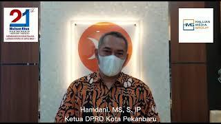 Ucapan Selamat Ulang Tahun Haluan Riau ke-21 dari Ketua DPRD Kota Pekanbaru