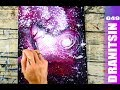 Step by Step Abstract Landscape Painting   Bubble Wrap   Squeeze Bottle   049