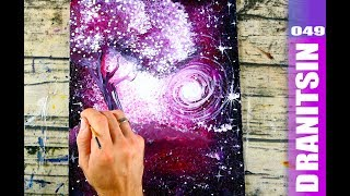 Step by Step Abstract Landscape Painting | Bubble Wrap | Squeeze Bottle | 049