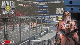 WWE 2K19: War Raiders DLC in War Games action! (War Games Mod/Entrance, Finishers & Victory Scene)