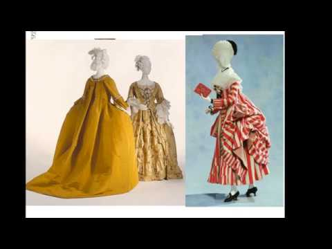 Mini-conf 1 : Les types de robes parisiennes sous Marie-Antoinette