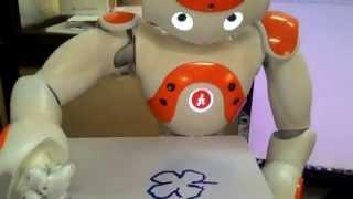 NAO Humanoid Robot Drawing Flower