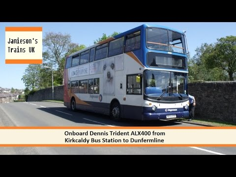 Onboard Dennis Trident ALX400 from Kirkcaldy Bus Station to