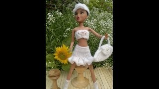 ВЯЗАНИЕ ДЛЯ КУКОЛ.Liv doll clothes -3 hand made,brand new.Slide Show.Liv кукла вязанная одежда.