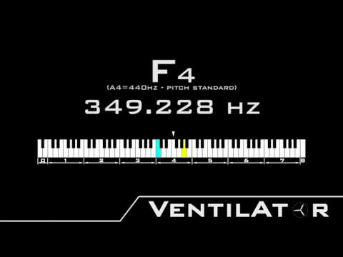 F4 / 349.228hz @A440hz Tone For Instrument Tuning