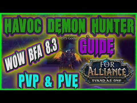WoW 8.3 Havoc Demon Hunter BEST PVP & PVE Talents AZ Traits Explained