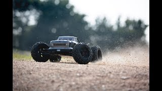 ARRMA 1/8 OUTCAST 6S Stunt Truck 4WD RTR Dark Silver Video