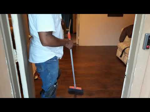 How to keep my new laminate floors clean.