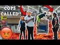 FLOOR IS LAVA CHALLENGE AT WALMART! *COPS CALLED*
