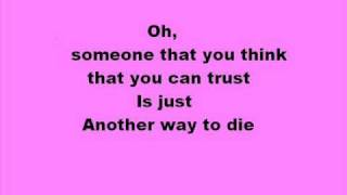 Alicia Keys feat.Jack White - Another way to die with lyrics
