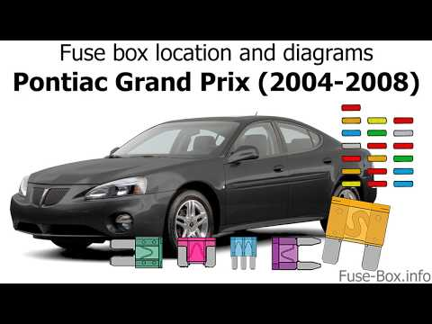 Fuse box location and diagrams: Pontiac Grand Prix (2004-2008) - YouTubeYouTube