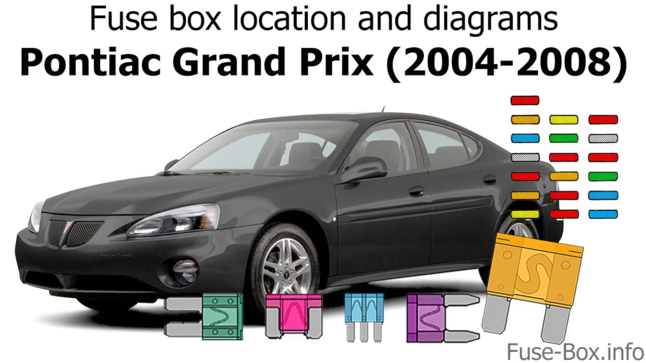 fuse box location and diagrams: pontiac grand prix (2004-2008 ...  youtube