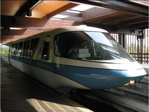 Walt Disney World Monorail Resort Magic Kingdom 2013 HD POV Ride through