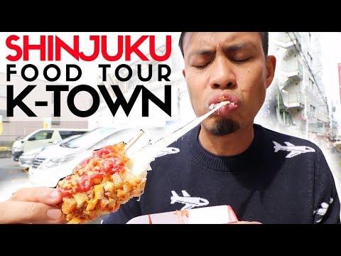 Tokyo Street Food Shinjuku Shin Okubo Top 6 | Korea Town's Insane Fried Cheese Corn Dog
