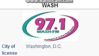 WASH-FM 97.1 WASH-FM Washington, DC TOTH ID at 6:00 p.m. 7/15/2014
