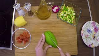 Салат из авокадо с Неркой холодного копчения от Оливы