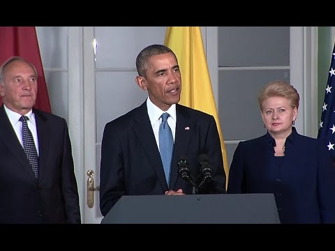 Presidents of the U.S., Estonia, Latvia, and Lithuania Deliver Remarks