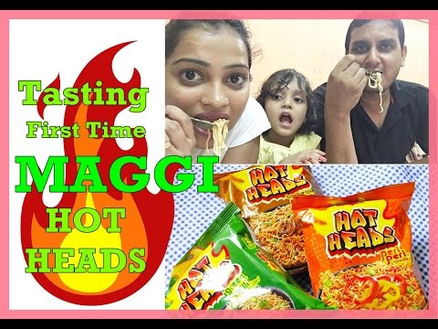 Maggi Hot heads Tasting / Review / Cooking / Green Chilli Noodles / Peri Peri Noodle / Barbeque