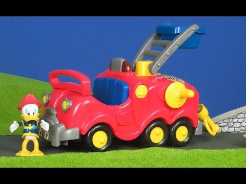 Micky Maus Wunderhaus Unboxing deutsch: Donald Duck Feuerwehrmann & Feuerwehrauto