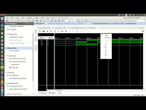 VHDL Design with VIVADO: NAND Gate Design & Simulation in