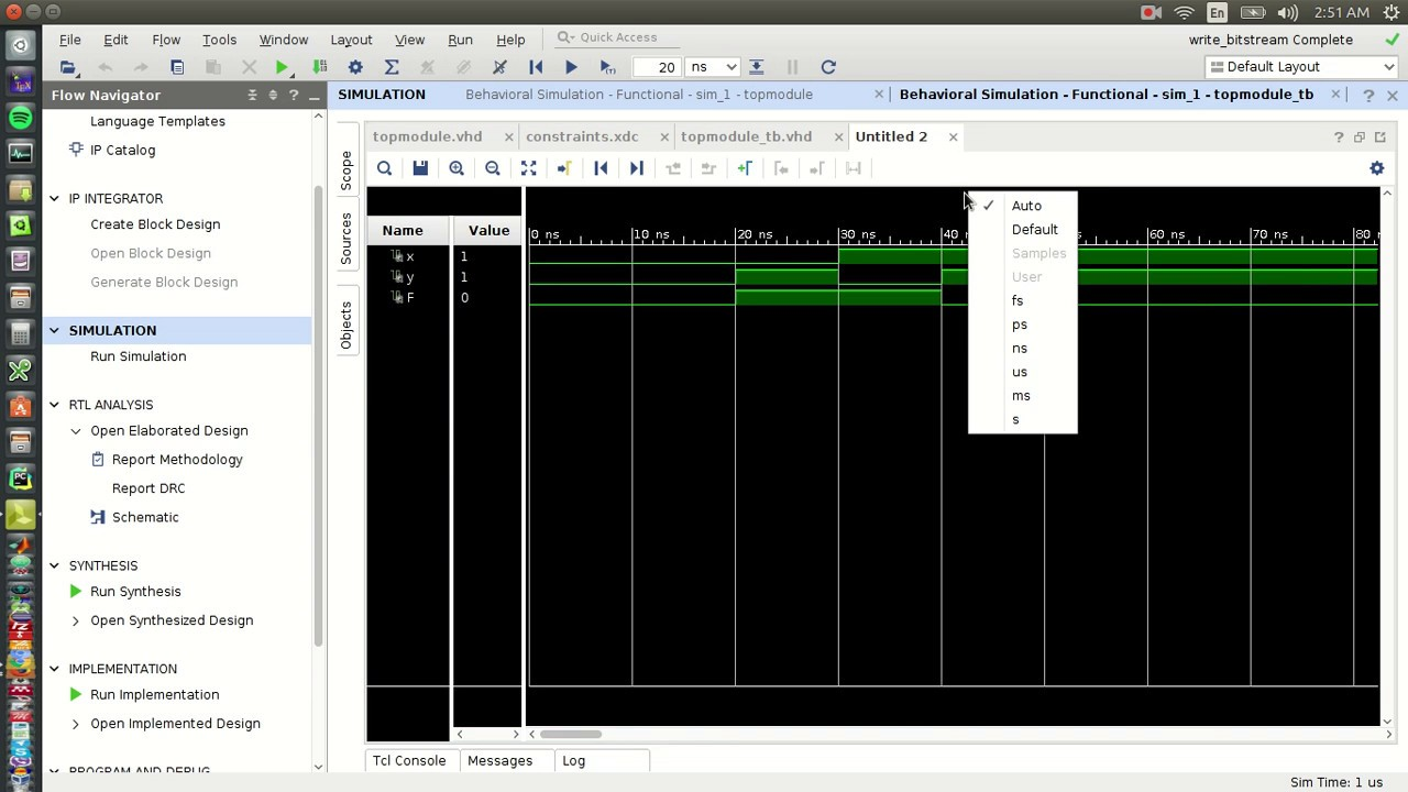 Basys 3 Tutorials Part 4: How to use Testbench and Simulation