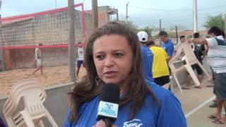Luizete Nery coordenadora da parceria SESC e Secretaria de Esportes destaca o apoio da prefeitura