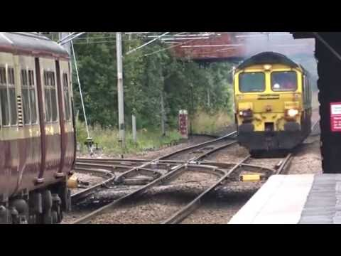Class 66 Diesel Locomotives At Whifflet 22/08/16