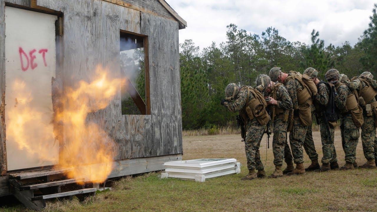 US Military News • U.S. Marines Combat Engineers Conduct Breaching Range