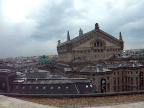 View from the roof of the Galeries Lafayette department store at the Boulevard Haussmann