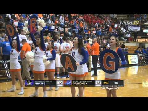 2015-16 IHSAA 3A Basketball Regional 8: Greensburg vs Silver Creek