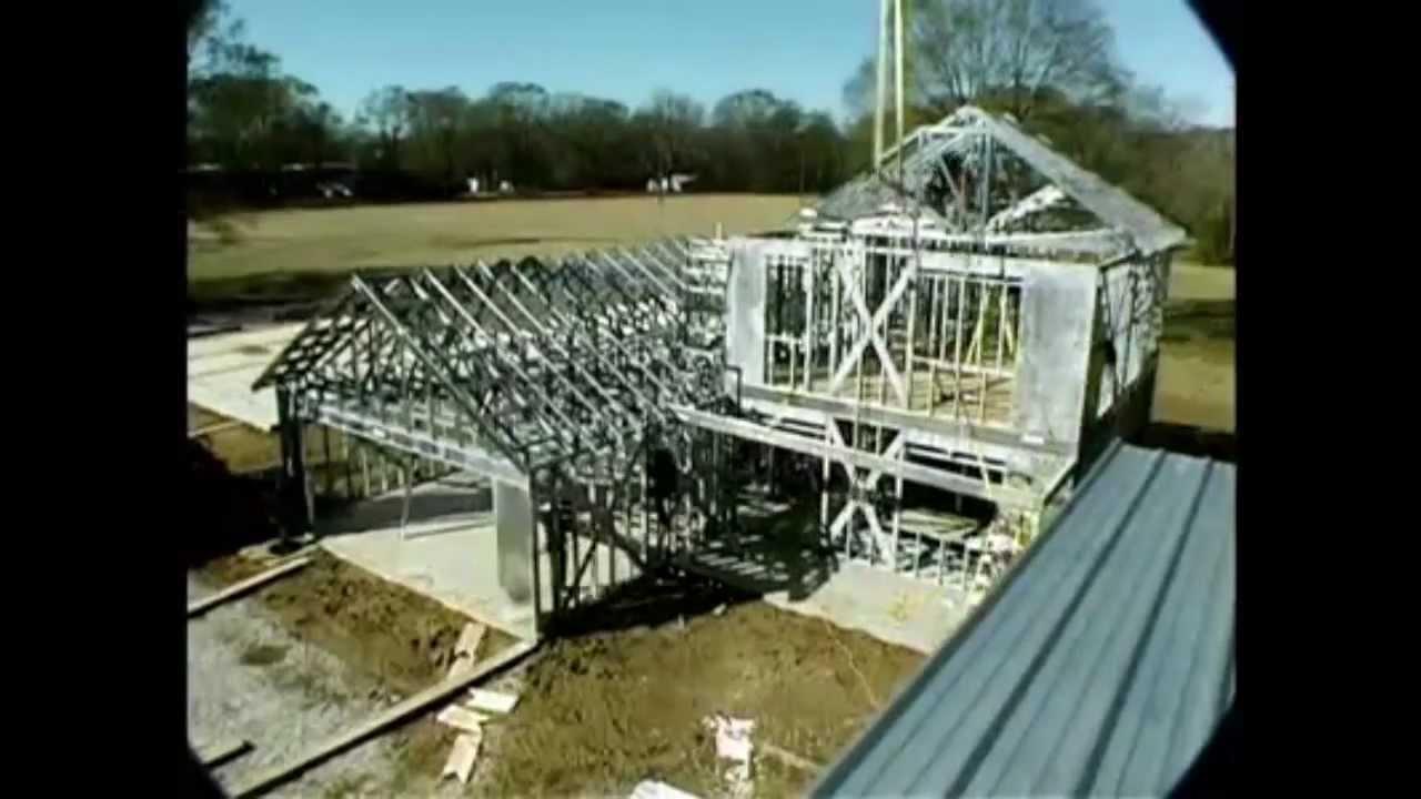 Usg construcci n de la estructura de acero de una - Viviendas de acero ...
