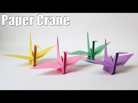 How to make a Paper Crane | Easy | Tutorial