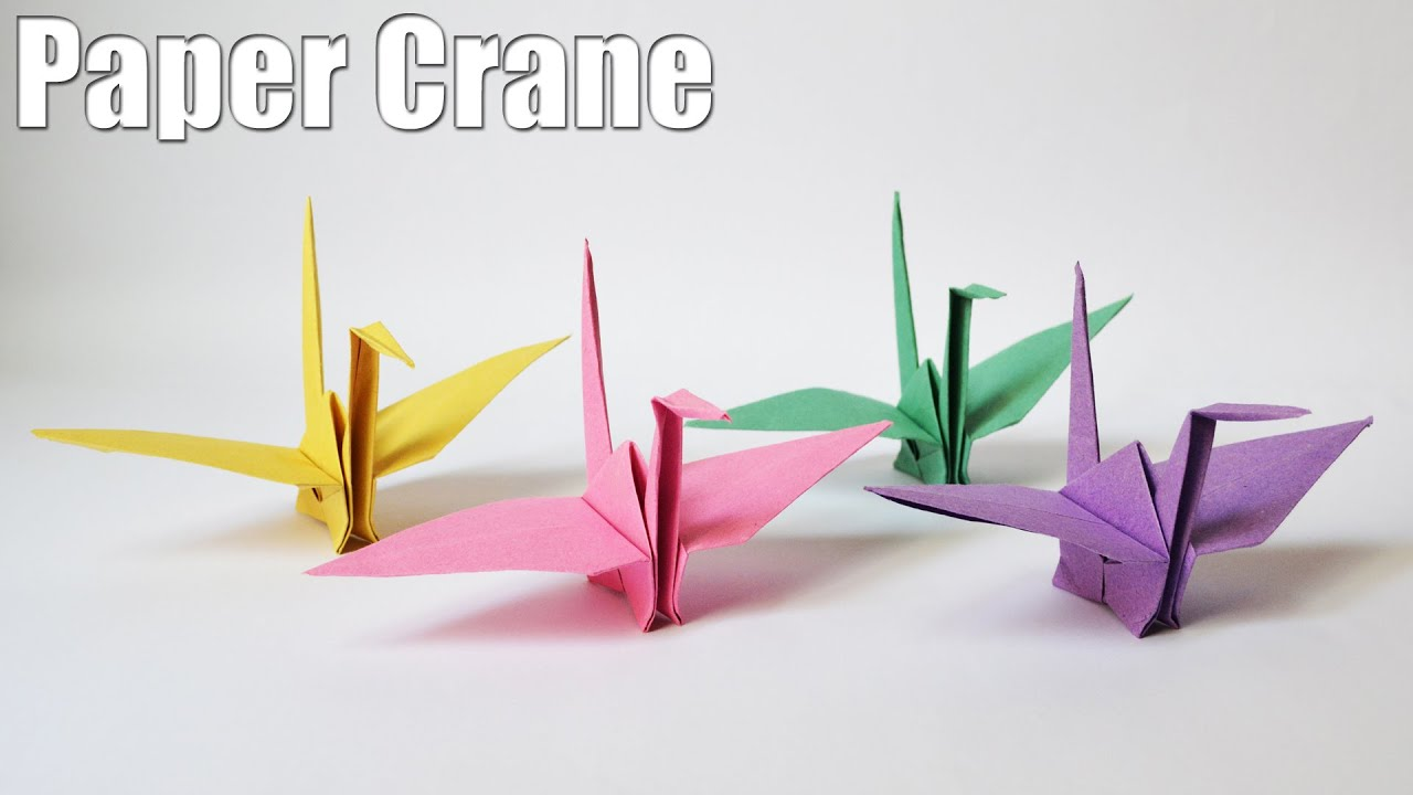How to make a paper crane slow and easy