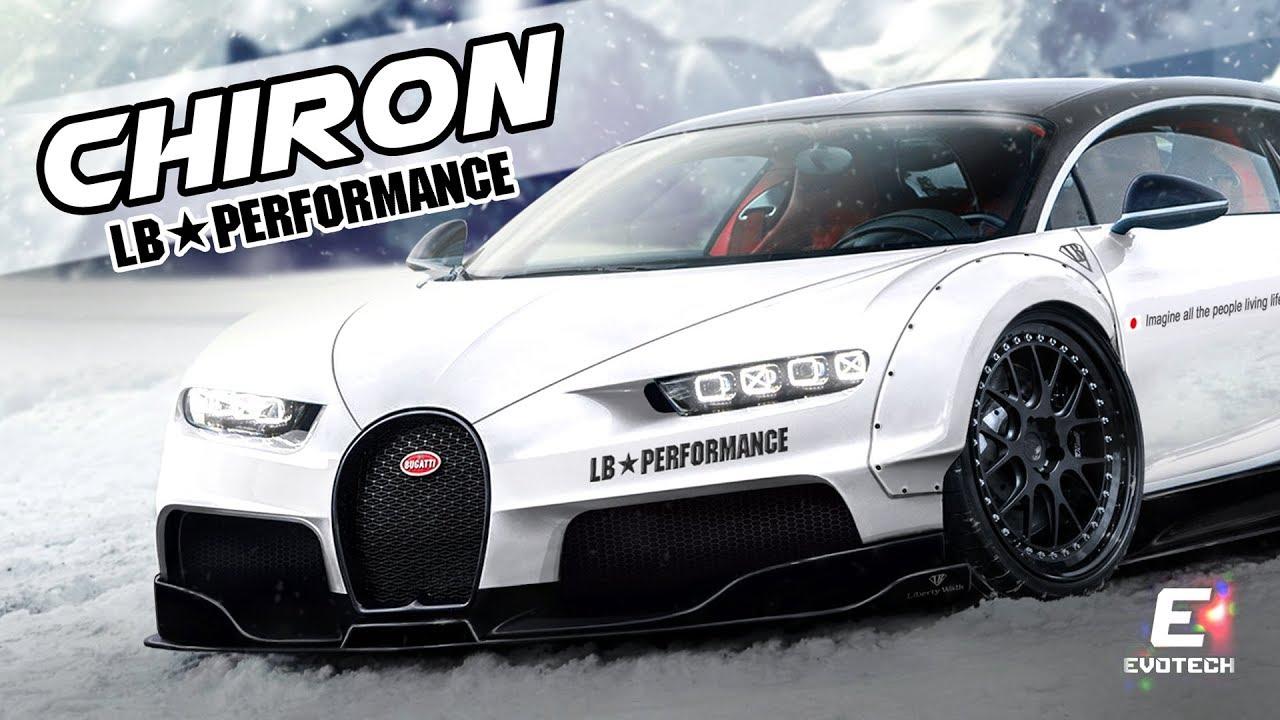 Liberty Walk Bugatti Chiron Virtual Tuning Photoshop Render Evo5