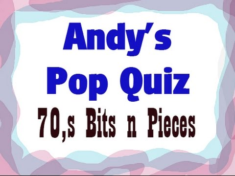 Pop Quiz No81 - 20 x 70s Songs.