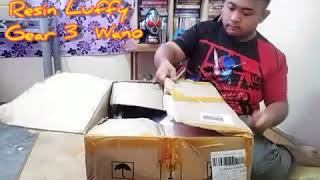 Unboxing One Piece Luffy Gear 3 Wano Copy Resin