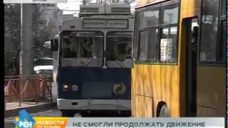 Затор в Иркутске образовался из-за обрыва контактной сети троллейбусов