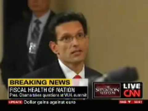 Republican Whip Eric Cantor At The White House Meeting