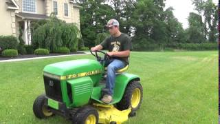 Mowing With the John Deere 210