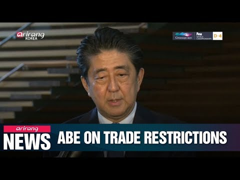 Shinzo Abe mentions N. Korea in regards to their recent restrictions on exports to S. Korea