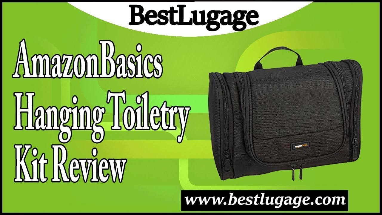 AmazonBasics Hanging Toiletry Kit Review - YouTube 02a95249a4b0f