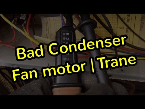 Condenser Fan Motor Replacement | Trane TWP - YouTube on