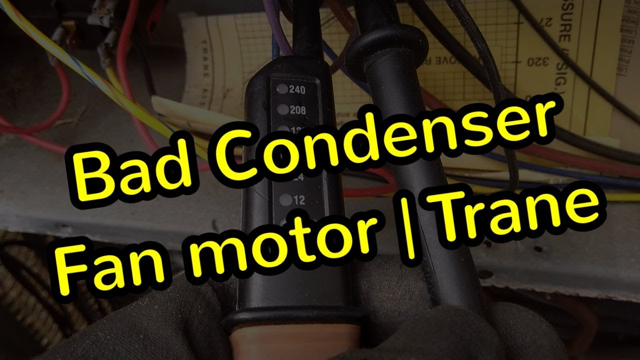 Condenser Fan Motor Replacement | Trane TWP