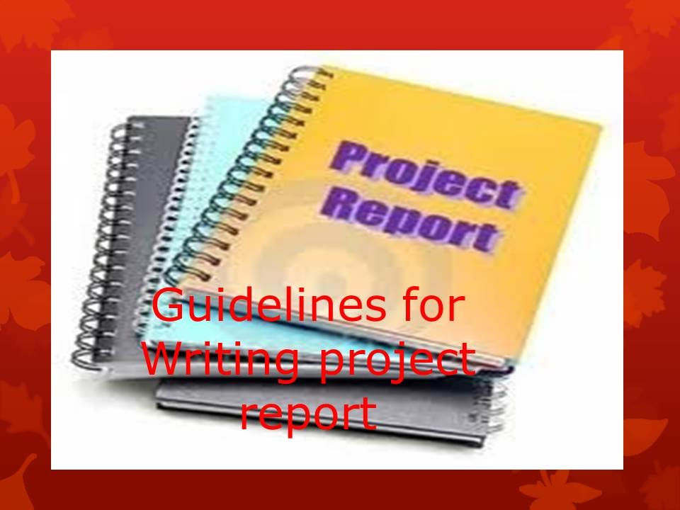 How to write project report - YouTube